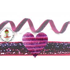 Glitzerband Ombre Lila*Pink