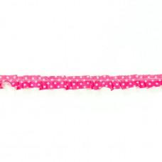 Satin Organza Spitze ♥ Pünktchen ♥ Pink