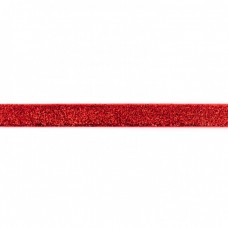 15 mm Glitzerband Rot