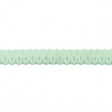 BW ♥ Wäschespitze lilFLOWER 30 mm ♥ Alt Grün