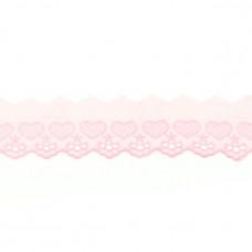 BW Wäschespitze  HERZchen ♥ 50 mm ♥ Rosa