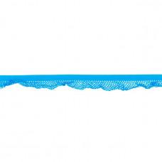 Elastische Rüsche ♥  Netzdesign ♥ Aqua