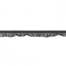 Elastische Rüsche ♥  Netzdesign ♥  Dunkelgrau