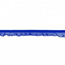 Elastische Rüsche ♥  Netzdesign ♥ Kobalt