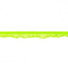 Elastische Rüsche ♥  Netzdesign ♥ Lime