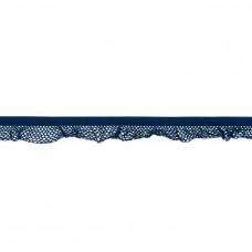 Elastische Rüsche ♥  Netzdesign ♥ Marine