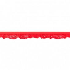 Elastische Rüsche ♥  Netzdesign ♥ Rot