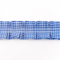 Rüschenkaroband Blau
