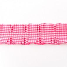 Rüschenkaroband Pink