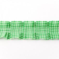 Rüschenkaroband Lime