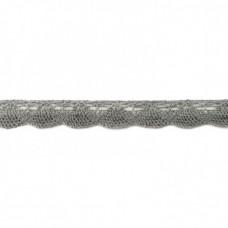 Klöppelspitze Bogen Grau