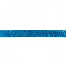 Glitzerband Aqua