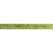 Glitzerband Lime