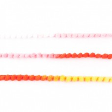 Mini Pompomband Multicolor Rot, Weiß, Gelb