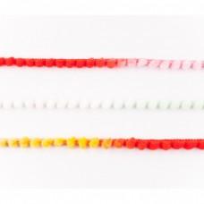Mini Pompomband Multicolor Rot, Weiß, Gelb, Mint