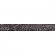25 mm Glitzerband Dunkelgrau