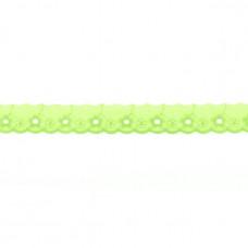 BW ♥ Wäschespitze Circle Flower 25 mm ♥ Lime
