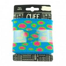 Cuff Bubbles * Aqua-Fuchsia