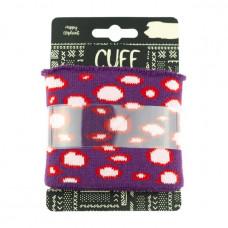 Cuff Bubbles * Purple-Light Pink
