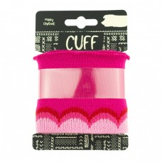 Cuff Waves * Fuchsia-Light Pink