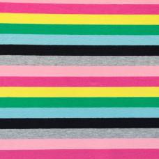 Baumwoll Jersey Multicolour * Rosa Grau