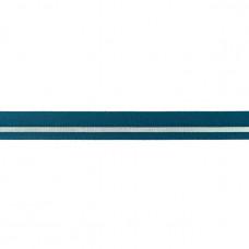 Falzgummi ♥ LUREX Stripe ♥ Petrol