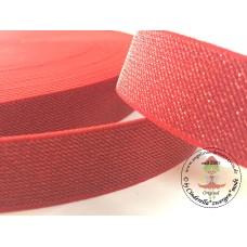 Glitzer ♥ Gummiband * 25 mm * Rot