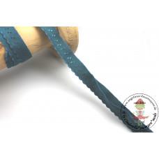 Elastisches Einfassband mit Bogenkante*PETROL