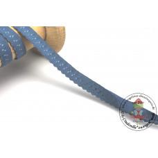 Elastisches Einfassband mit Bogenkante*BLAU