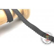 Elastisches Einfassband mit Bogenkante*SCHWARZ