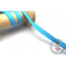 Elastisches Einfassband mit Bogenkante*AQUA