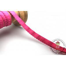 Elastisches Einfassband mit Bogenkante*FUCHSIA