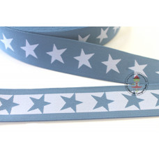 Gummiband * 40 mm * Sterne * Jeansblau