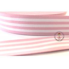 Gummiband * 40 mm * Streifen * Rosa