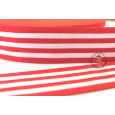 Gummiband * 40 mm * Streifen * Rot