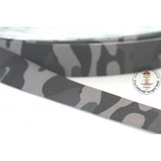 Print ♥ Gummiband * 25 mm * Army Grey
