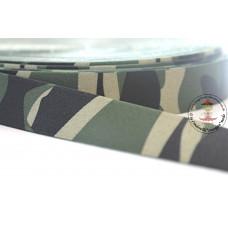 Print ♥ Gummiband * 25 mm * Army Green