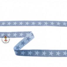 Webband Sterne Jeans*Blau