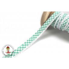 Einfassband mit Häkelborte Vichy*Grün