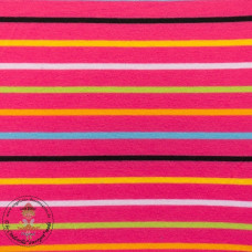 Jersey Colourful Stripes*Fuchsia