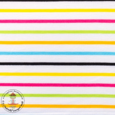 Jersey Colourful Stripes*White