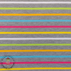 Jersey Colourful Stripes*Grey