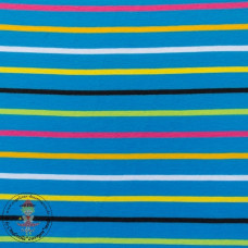 Jersey Colourful Stripes*Aqua