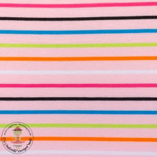 Jersey Colourful Stripes*Rosa
