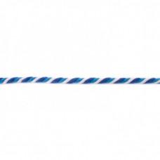 Kordel  3-farbig*Aqua*Kobalt*Weiß