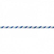 Kordel  3-farbig*Kobalt*Weiß*Hellblau
