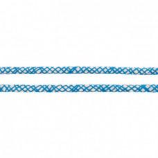 Baumwoll Kordel ♥ 10 mm ♥ Netzdesign Aqua