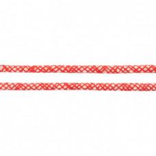 Baumwoll Kordel ♥ 10 mm ♥ Netzdesign Rot