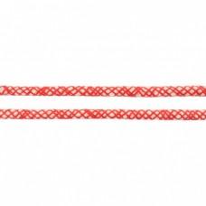 Baumwoll Kordel ♥ 8 mm ♥ Netzdesign Rot