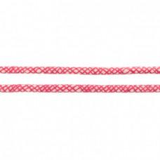Baumwoll Kordel ♥ 10 mm ♥ Netzdesign Fuchsia